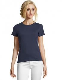 Womens Round Neck Fitted T-Shirt Imperial